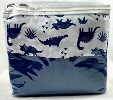 Carter's Dino Adventure Gray & Blue 3Piece Crib Bedding Set - Brand New
