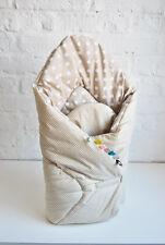 H&D 2-SEITIG BABY HÖRNCHEN punkte beige Babynest Steckkissen Baumwolle ÖKO