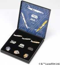 ANA STAR WARS, lapel pins, R2-D2 BB-8 C-3PO, ANA JET Aircrafts, from JAPAN