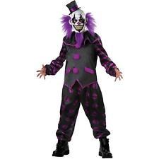 Bearded Clown Costume Scary IT Horror Circus Killer Purple Clown Carnival