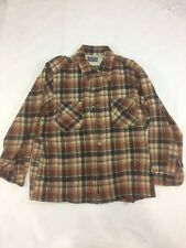 Vintage Mens 100% Wool Pendleton L/S Button Down Shirt Extra Large XL