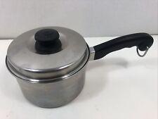 "New listing Saladmaster 6-7/8"" Stainless Steel 1 Quart Sauce Pan Pot & Lid"