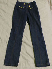 Women's ZD Zana Di High Wasted Double Breasted Jeans Size 9 Skinny/Slim Leg