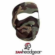 Zan Headgear Neoprene Full Face Mask Woodland Camo Hunting Outdoor Hunt