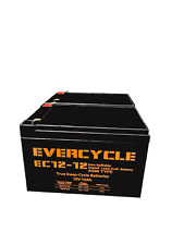 """(2) EverCycle - 12V 12AH - """"Pride Mobility GoGo Scooter"""" REPLACEMENT BATTERY"""