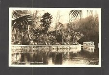 REAL-PHOTO POSTCARD:  SCENE WITH GLASS BOTTOM BOAT AT SILVER SPRINGS - OCALA, FL