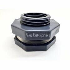 New listing 1/2&quot Pro Series Pvc Bulkhead Fitting Adapter For Rain Barrels, Aquariums,
