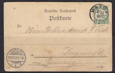 GNG20) German New Guinea 5pf Green Yacht on 1902 Naval/Military themed