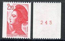 TIMBRE DE FRANCE NEUF N° 2379b ** NUMERO ROUGE ROULETTE LIBERTE gros chiffre