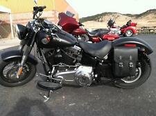 Harley Softail LEFT or RIGHT Side Swingarm BLACK SOLO BAG - SHL04 BAD&G CustomS