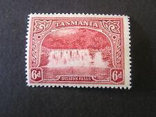 *Tasmania, Scott # 93, 6p. Value Lake Dilston Falls 1899-00 Issue Mh