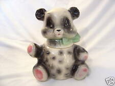 BRUSH POTTERY PANDA BEAR COOKIE JAR USA MARKED W21 1957 ORIGINAL