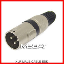 XLR 3-Pin Male Plug Cable End Connector - Nickel