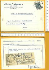 Cedola di Commissione Libraria - LIBRERIA ESTENSE di MODENA  -25283