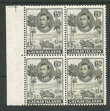 CAYMAN ISLANDS SG122  1938 GVI 6d OLIVE GREEN P11.5X13 MNH MARG. BLOCK C £60+