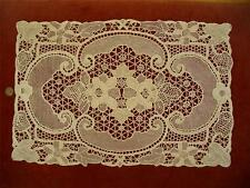 HANDMADE Antique Vtg POINT DE VENISE NEEDLE LACE DRESSER SCARF RUNNER PLACEMAT