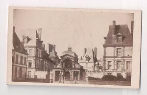 Vintage CDV The Palace De Fontainebleau Porgeron Photo Fontainbleau France