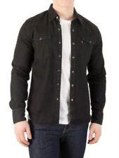 Camisas y polos de hombre de manga larga negros Levi's