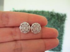 .28 CTW Diamond 3-Way Earrings 14k White Gold JS93E sep