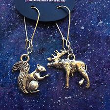 Moose & Squirrel earrings SPN Supernatural Dean Sam Rocky Bullwinkle