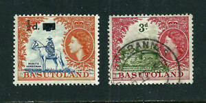 2 Stamps - Basutoland - 1954 MH & used