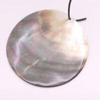 Ovale ormeau Vert Naturel Arc-en-Paua Shell Pendentif Making À faire soi-même 35mmX50mm