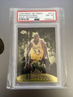 1999 Topps Team Finest Shaquille O'Neal Gold /250 PSA 8