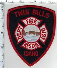Twin Falls Fire & Rescue (Idaho) Uniform Take-Off Shoulder Patch from the 1980's