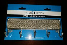 Inter Design Wall Mount Hanging Key Rack Holder Silver NEW