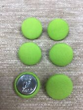 Lime Green 30L/19mm Fabric Covered Buttons Craft Sewing Upholstery