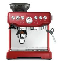 Breville BES870CRN the Barista Express™ Coffee Machine - Cranberry - RRP $899.95