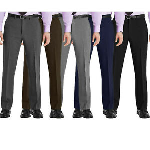 Mens New Smart Formal Casual Business Dress Meeting Office Work Trousers Pants