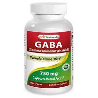 Best Naturals Gaba 750 mg 180 Vcaps - unisex - Naturals calming effect