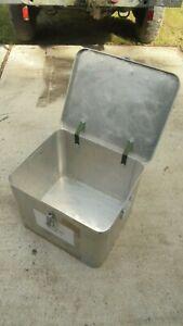 British Army - Aluminium storage box. Field kitchen utensil storage case.