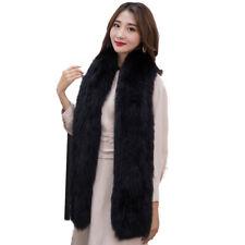 Fur Scarf Women Real Fox Fur Warm Neckerchief Hand-Woven Fluffy Soft 170*19cm