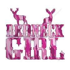 Redneck Girl  Pink Camo Letters     Tshirt   Sizes/Colors