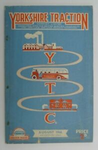 YORKSHIRE TRACTION AUGUST 1946 ~ BUS SERVICES TIMETABLE BOOKLET