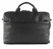 MANDARINA DUCK Detroit Leather Briefcase Laptoptasche Tasche Neu Black Schwarz
