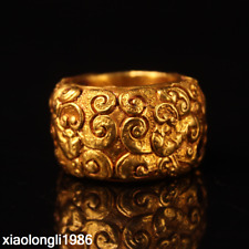 old  China  Gold plated copper  Handmade  make  decorative pattern  Ring as105