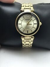 WOMEN'S ARMITRON ANALOG DRESS WATCH GOLD TONE BAND DIAMOND DIAL 75/5413CHGP-H36
