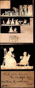 1854 FOLK ART Scissors Cutwork by Ms Sharp Watertown MA