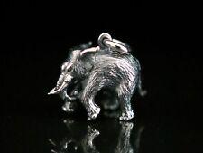 Elefant Anhänger Silber 925 voll plastisch massiv