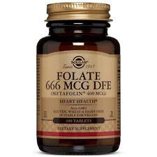 Solgar Folate 400 mcg - 100 Tablets FRESH, FREE SHIPPING, MADE IN USA