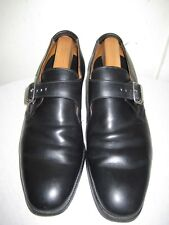 CHURCH'S Black Leather Monk Shoes Mens Size 10.5 C Made In ENGLAND.