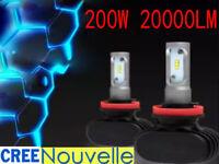 200W 20000LM H11 H8 H9 CREE LED Ampoule Voiture Feux Phare Lampe Kit Xénon Blanc