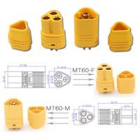 5 Paar MT60 Amass 3Pin Goldstecker Stecker Multirotor Brushless Motor Regler 60A