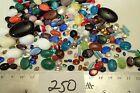 250pc Vtg Oval Glass Rhinestone Mix Lot Craft Repair Jewelry Czech Germany Japan