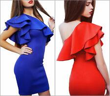 NEU Sexy Kleid Abendkleid Ballkleid Cocktailkleid Party rot blau Gr. 32 bis 42