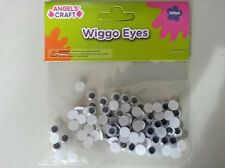 CRAFT Wiggo Eyes black white  8 MM 100 PK  SHIP FROM USA GREAT TO MAKE TEDDY