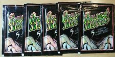 (5) Full Gruzel Monsters Packs EuroFlash Figurine Garbage pail